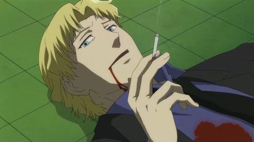 【画像】漫画とかでキャラが死ぬ時に最後にタバコ吸うシーンwwwwwwww