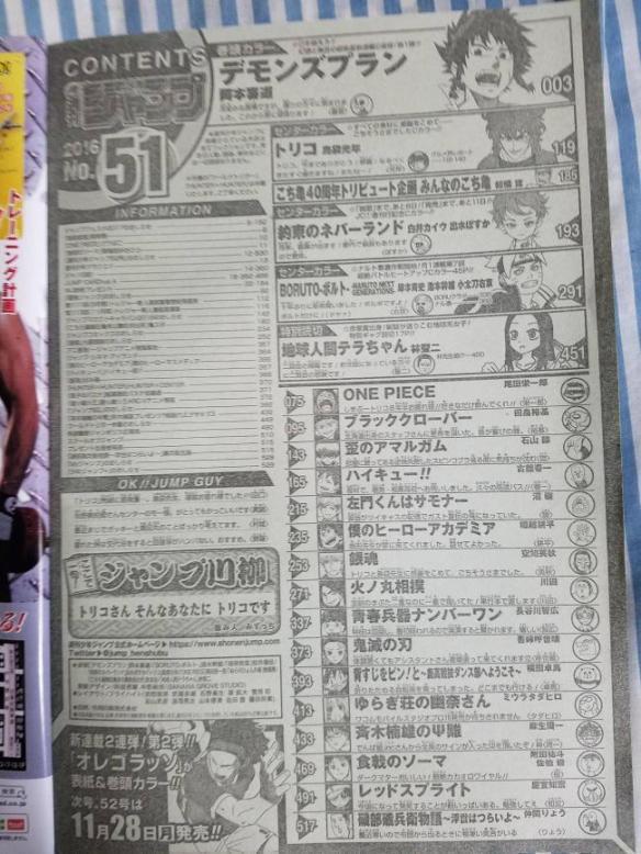 【悲報】トリコさん、連載約9年だったのに最終回に尾田と空知からしかコメントを貰えない…