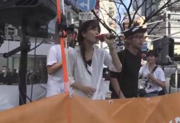 SEALDs橋本紅子さんの主張「<ドドドドドズバババロロロダダドムゥ> 私たちはヤバい過激派集団ではありません! 普通の若者です! (リュミーン)」(動画)