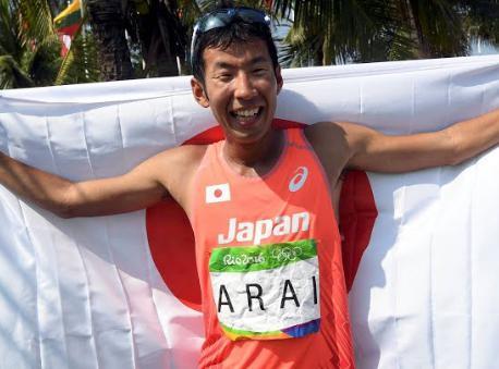 荒井 幻の日本競歩初メダル…3着でゴールも一転、失格