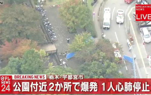 宇都宮城址公園付近で爆発 1人が心肺停止