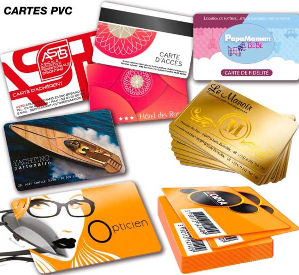 Cartes plastiques en PVC