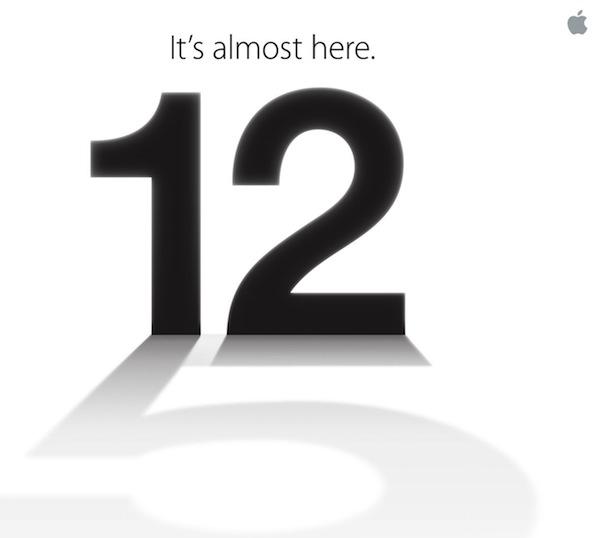 iPhone 5 de Apple el próximo día 12, tresT