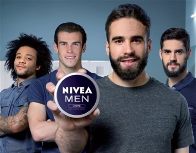 La plantilla del Real Madrid anunciado Nivea Men