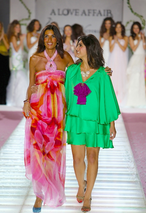 Victoria Casal and Aiisha on the catwalk