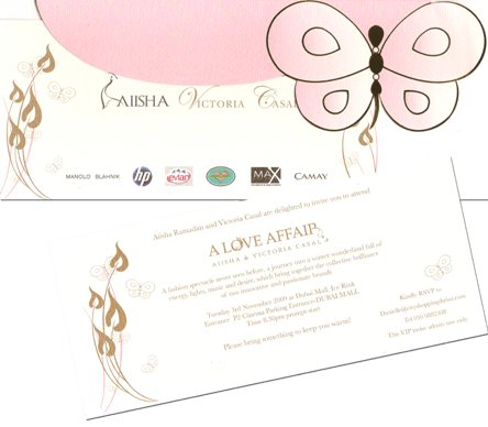 A Love Affair Invite