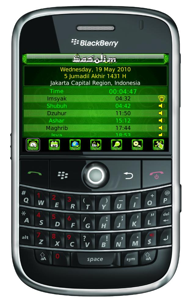Wasolim: Muslim Prayer Times Application for Blackberry