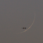 Photos: Crescent Moons for Rajab 1436 AH Were Sighted on 19 April 2015