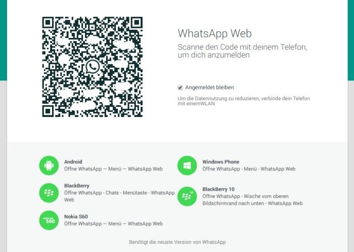 WhatsApp am Rechner nutzen