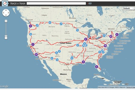 gallery for > amtrak map 2013