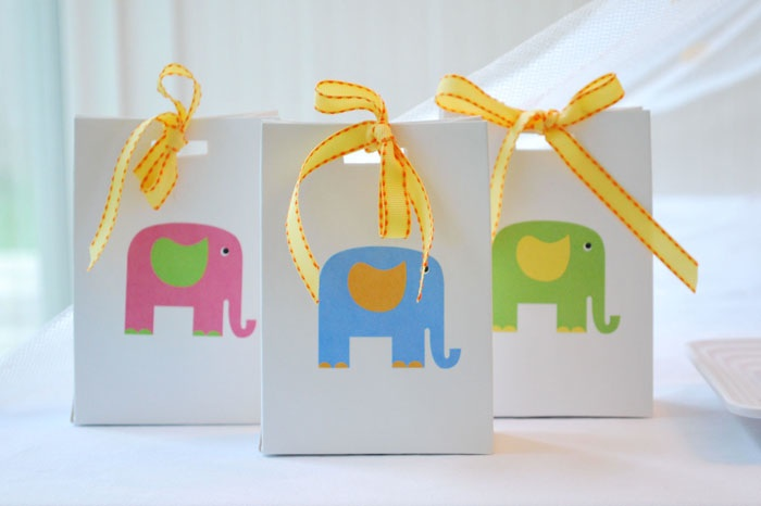 elephant sticker party favors  Colorful Circus Elephant Guest Feature