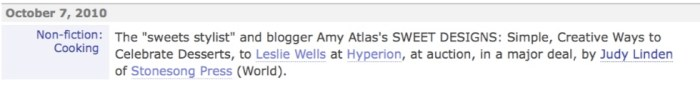 publisherswklyannouncement 700x90 HUGE NEWS   AMY ATLAS BOOK!!!!!!!!