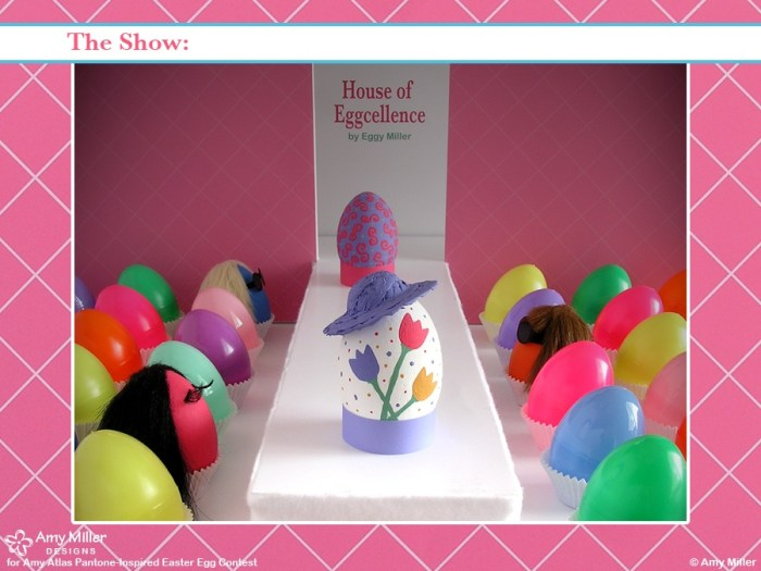 3AMillerShow 700x525 Pantone Inspired Egg Contest Winner {Egg Cellent Easter Inspiration} With Egg Fashion Show