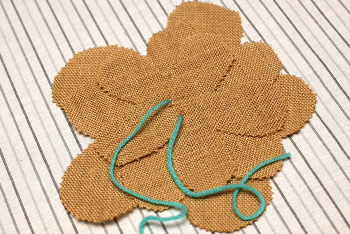 Step 5 Burlap Flowers Burlap Flower Tutorial