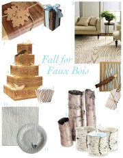 Fall for Faux Bois