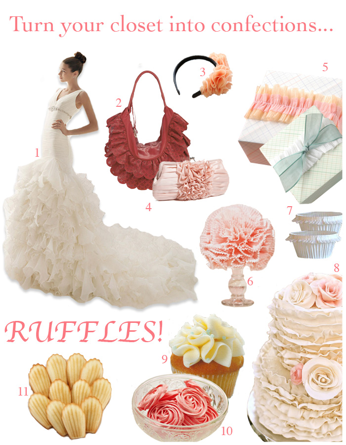 ruffle board 4 Turn your Closet into Confections: Ruffles!