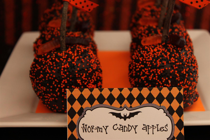 Halloween wormy candle apples gfcf Large Halloweekend Countdown: Bat Scary!
