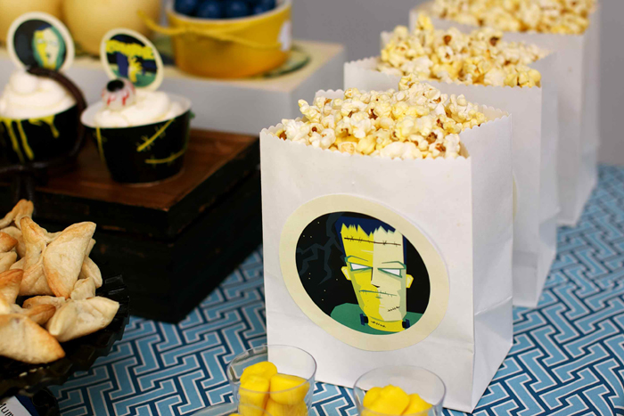 Vintage Monster Movie Halloween Dessert Table Popcorn Halloweekend Countdown: Horror Movie Madness