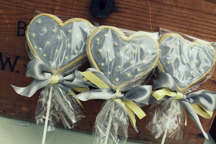 greyyellow36 Yellow & Grey Bridal Shower Guest Dessert Feature