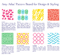 Amy Atlas' Pattern Board for Design & Styling