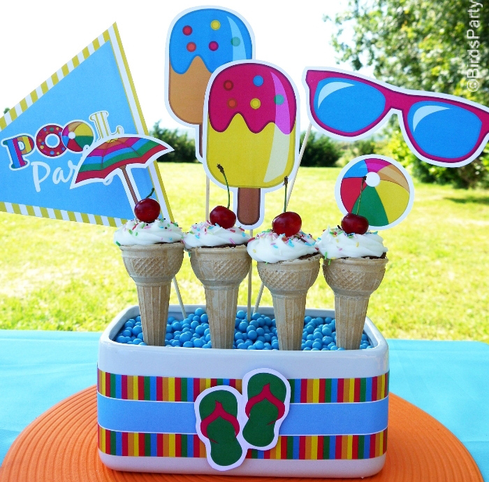 Pool Party by Birds Party19 Pool Party Guest Dessert Feature
