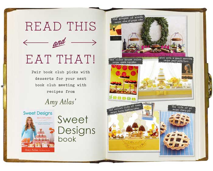 amyatlasbookclub41 Read This, Eat That! {Plus a Giveaway of up to 15 copies of Sweet Designs for your Book Club}