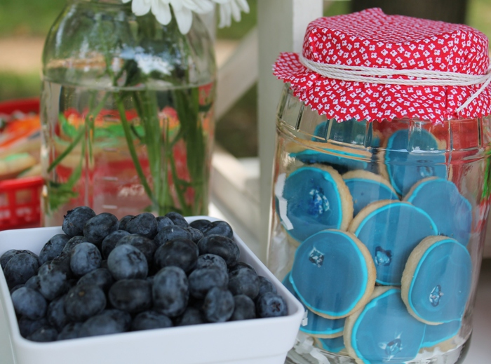 Blueberry Shaped Sugar Cookies