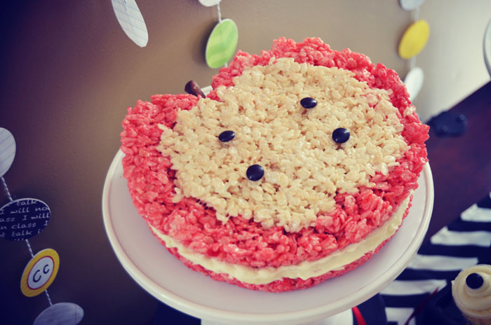 Back To School Rice Krispie Treat Apple