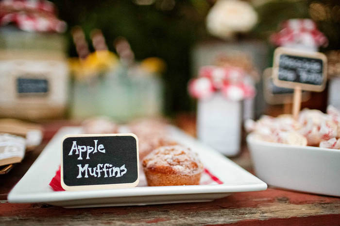 Apple Muffins Rustic Country Dessert Table