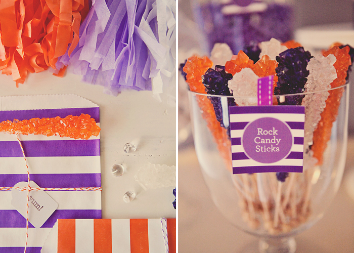Striped Bags and Rock Candy Pretty In Purple