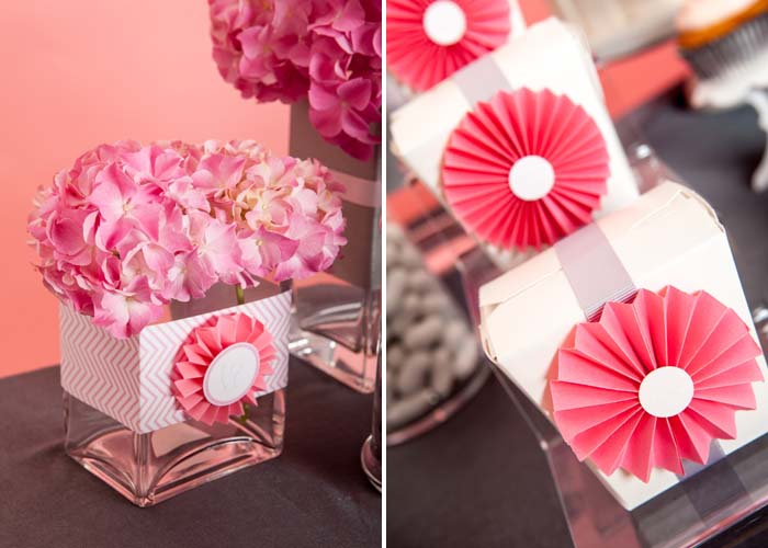 Florals and goodie boxes