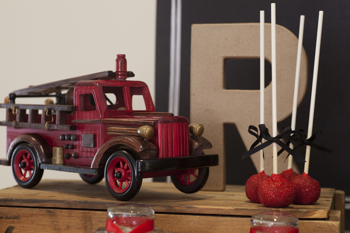 Vintage Firetruck Inspired Dessert Table Boys Parties