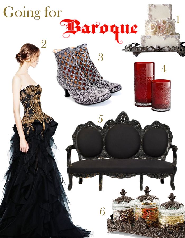Baroque inspired sweets, Baroque clothing, Baroque accessories