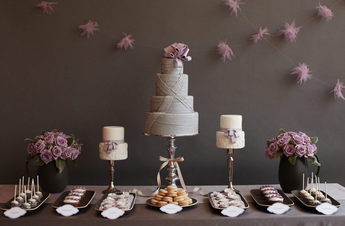 AmyAtlasLav Amy Atlas Lavender & Gray Dessert Table