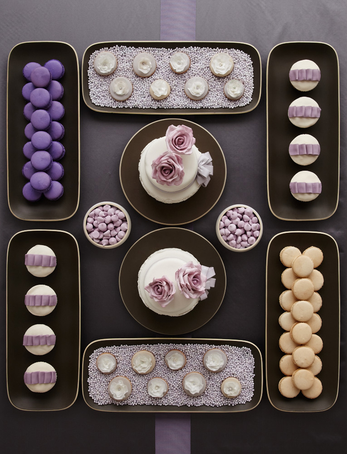 Amy Atlas Lavender & Gray Dessert Table