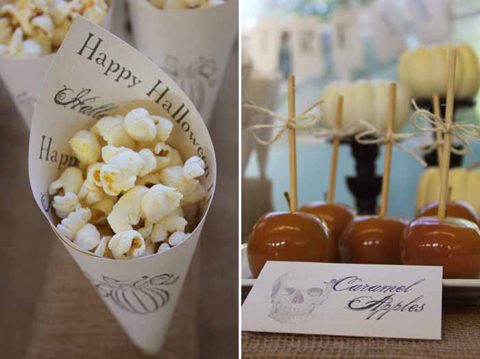 Popcorn CaramelApple Collage Halloweekend Countdown: Burlap and Boos