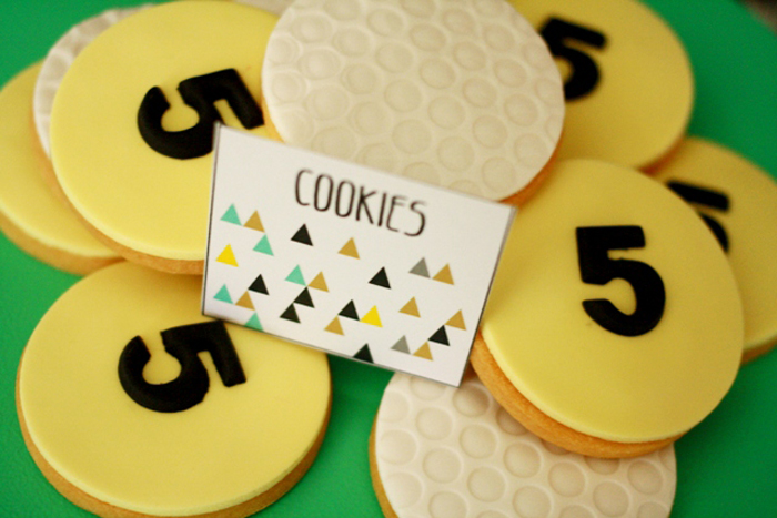 Golf inspired party ideas sugar cookies