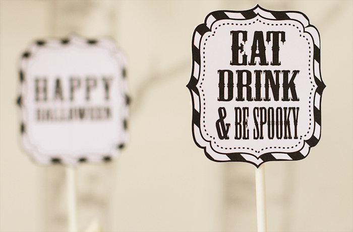 halloween cupcake topper Halloweekend Countdown: Eat Drink & Be Spooky