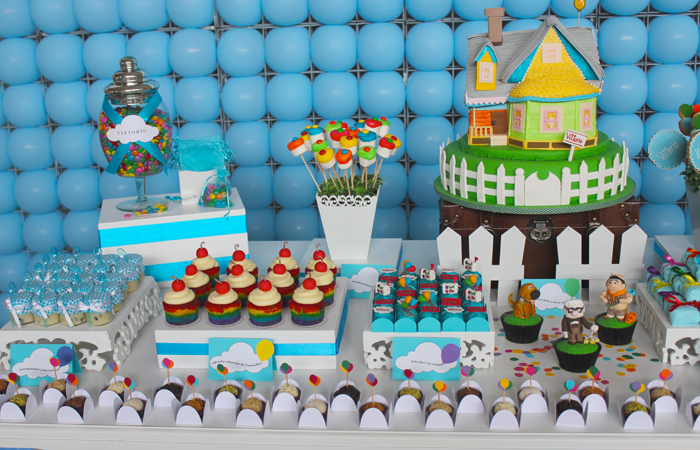 Disney - Up inspired dessert table.