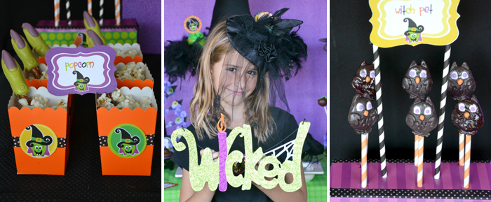 Purple Orange & Green Halloween Inspiration