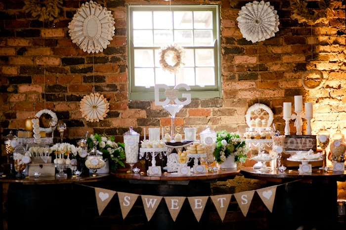 Vintage Rustic Wedding Dessert Table