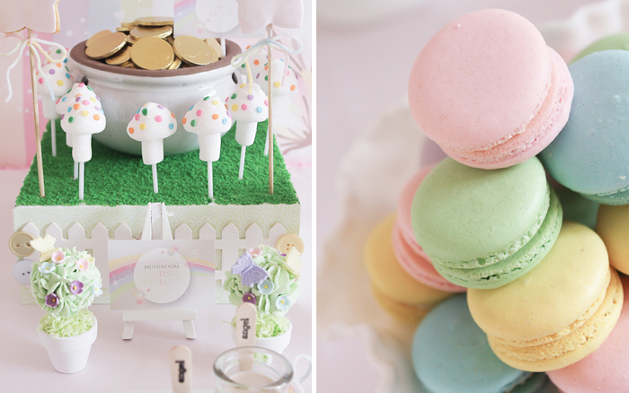 Pastel Rainbow Party1 Pastel Princess Rainbow Party Guest Dessert Feature