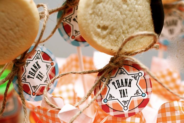 Cowboys and cookies birthday party dessert table favors 2 Cowboys and Cookies Guest Dessert Feature