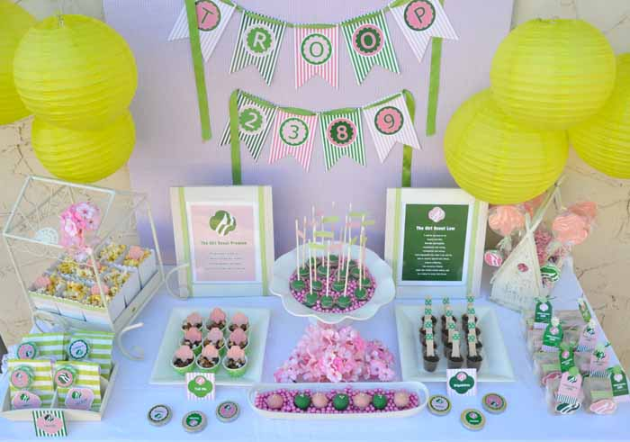 Girls Scouts Party Girl Scouts Guest Dessert Feature