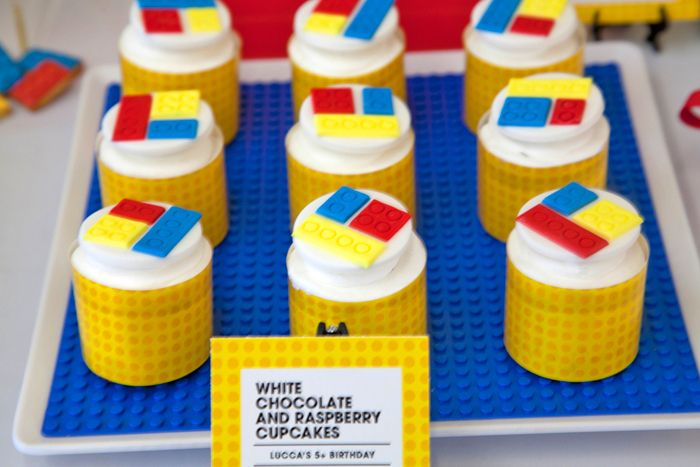 Lego Party Cupcakes Lots of Legos Guest Dessert Feature