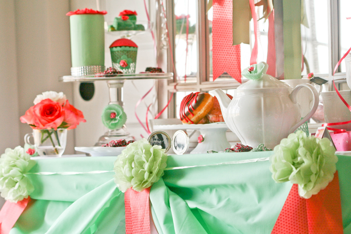 Love Dessert Table Mint & Coral Love Guest Dessert Feature