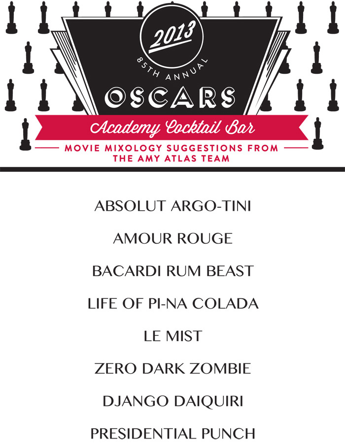 Movie Mixology Academy Award Cocktail Bar   Oscar Movie Mixology