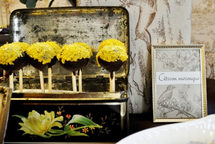 elivents desserttafel dessert table cakepops vintage can Toile Guest Dessert Feature