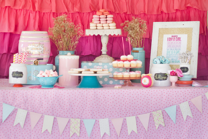 Girls Dessert Table Baby Youre A Firework Guest Dessert Feature