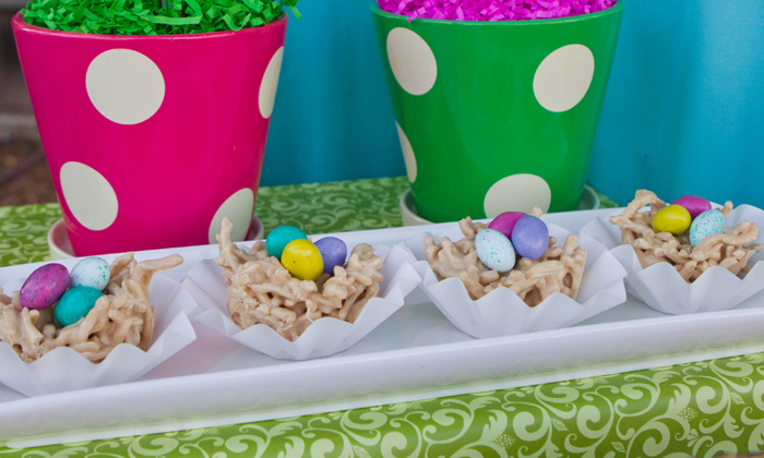 Rice Krispie Treat Nest Bright and Cheery Easter Guest Featured Submission